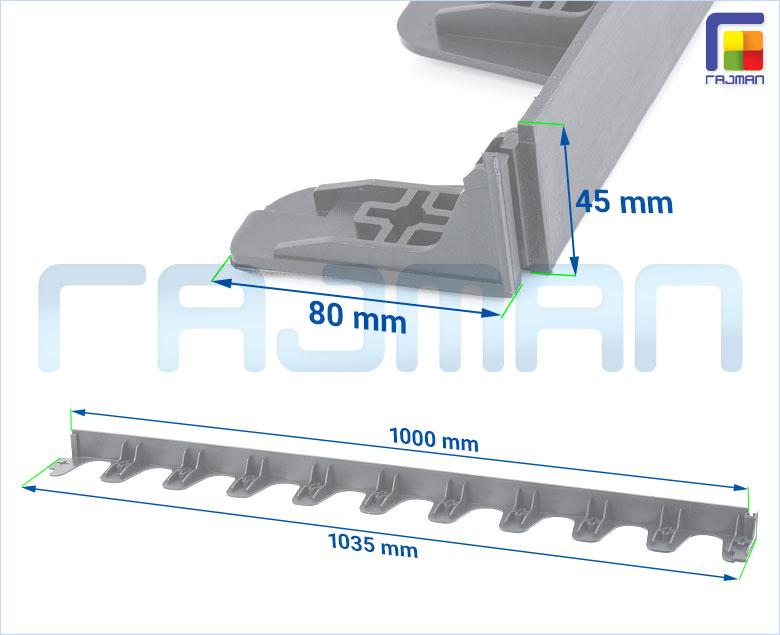 Rasenkante 70mm Kantenstein Beeteinfassung Mähkante Beetumrandung ZMP-o70