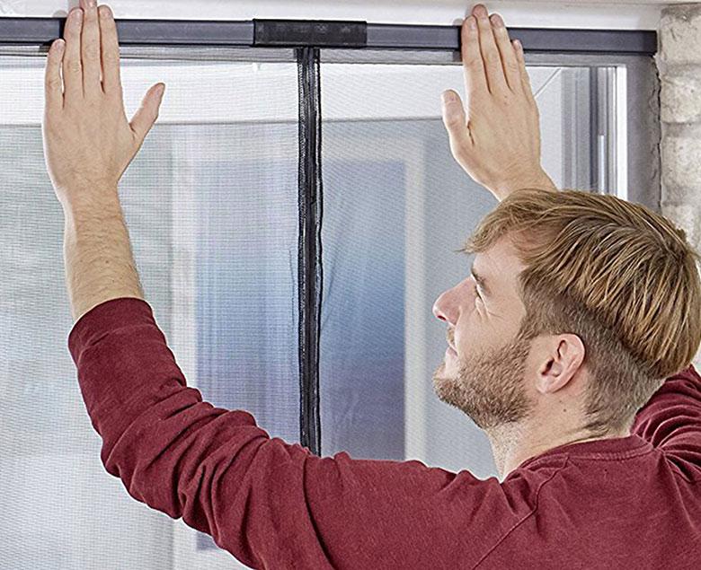 tesa fliegengitter insektenschutz magnetvorhang f r t ren montage ohne bohren ebay. Black Bedroom Furniture Sets. Home Design Ideas