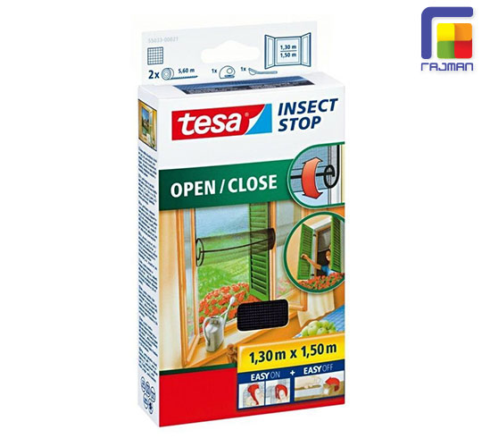 tesa fliegengitter insect stop open close 1 30 m x 1 50 m ebay. Black Bedroom Furniture Sets. Home Design Ideas